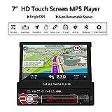 Autoradio mit GPS Navigation, LESHP 7 Zoll HD Touchscreen Auto Radio, mit Mirrorlink/Bluetooth Freisprecheinrichtung/7 LED Beleuchtungsfarben / AM/FM/USB/TF/AUX IN/ Ausgabe