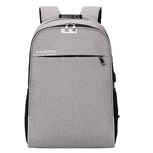 Willsego Unisex USB Bag Casual Bag Rucksack Reisetasche Business Rucksack Soft Computer Interlayer Tasche (Farbe : Grau) -