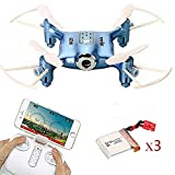 Syma X21W WIFI FPV Mini Drone with Extra 2 pcs Batteries 2.4GHz 4CH