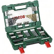 Bosch V-Line - Maletín de 91 unidades para taladrar y atornillar