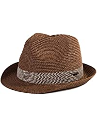 af89fc5ba31 SiggiHat Panama Summer Fedora Trilby Straw Sun Hats For Men Safari Beach Hat  - Foldable