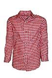 Trachtenhemd Rot-Kariert 128 (8)