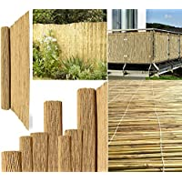"""Bargains Hut Natural Thick Bamboo Reed Fence Handmade Peeled Fence Sun Wind Protection Privacy Garden Fence (2m x 4m (6ft 6"""" x 13ft 1""""))"""