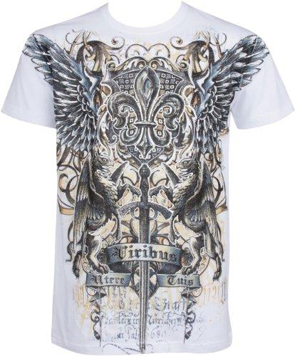 Swoderd and Griffin T-Shirt aus Baumwolle für Männer Weiß Large (Rabatt Herren Designer Kleidung)