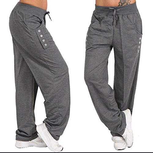 CIELLTE Pantalons Collants de Course Femme Couleur Unie Sarouel Loose Casual Large Jambe Grande Taille Leggings De Taille Élastique Pantalon de Pilate Yoga