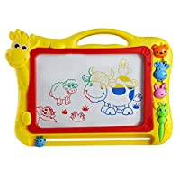 Educational Toys Magnetic Writing Painting Drawing Board Erasable Sketcher Tablet Drawing Doodle Pad and Scribble Boards With Animal Stamp for Children Kids(Color Vary)