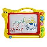 Juguetes Educativos Placa de Dibujo de Pintura de Escritura Magnética Tablero de Dibujo y Tablillas de Garabato con Sello de Animales para Niños (Color Aleatorio)