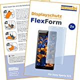 mumbi Flex Schutzfolie kompatibel mit Sony Xperia XZ2 Folie, Bildschirmschutzfolie (2x)