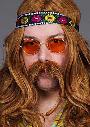 Orange 70er Jahre Hippie John Lennon Brille