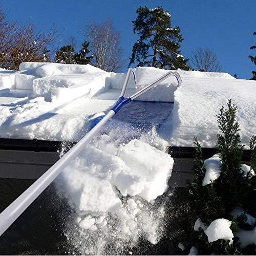 Snow Pusher (SKLLA Werkzeug Zum Entfernen des Dachs Für Schneefräsen 20 Ft Mit Verstellbarem Teleskopgriff)