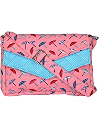 By My Side Women's Sling Bag (Pink And Blue)