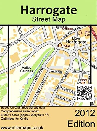 Britain England Map Harrogate Town Centre  Parliament Street