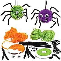 Baker Ross Kits de arañas de pompón Decorativas (Pack de 3) para Manualidades y Decoraciones Infantiles de Halloween