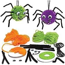 Baker Ross Kits de arañas de pompón Decorativas (Pack de 3) para Manualidades y
