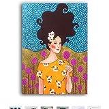 Vintage Europa Figura Soplando Burbujas Carteles Impresiones Lienzo Pintura Abstracta Arte de la pared Imágenes para la Sala de estar Decoración para el hogar 60 * 100 cm