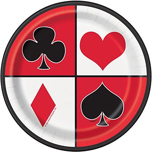 unique-party-49674-piatti-per-feste-a-tema-casino-confezione-da-8