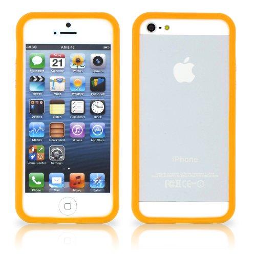 """Coque Semi-Rigide Ultra-Slim APPLE IPHONE 5S / IPHONE SE [La Sport Case Premium] [Rose] de MUZZANO + 3 Films de protection écran """"UltraClear"""" + STYLET et CHIFFON MUZZANO® OFFERTS - La Protection Antic Orange"""