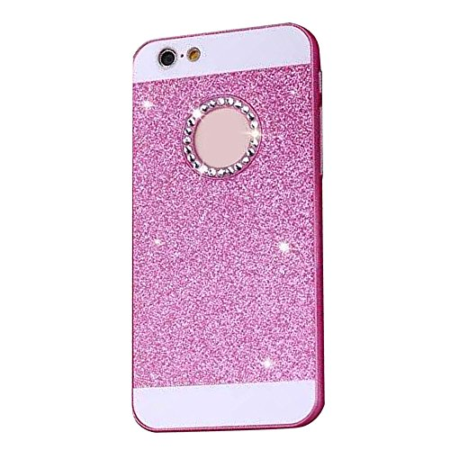 Cuitan PC Glitter Housse Case pour Apple iPhone 6 / 6s (4,7 Inch), avec Diamant Strass Sparkle Bling Shiny Retour Housse Back Cover Protecteur Etui Coque Cover Shell pour iPhone 6 / 6s (4,7 Inch) - Or Rose Rouge