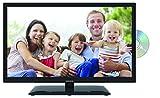 Lenco DVBT2 Fernseher DVL-2262BK 22 Zoll (55,88 cm) Full HD, LED Fernseher mit DVD-Player und 12 Volt Kfz-Adapter
