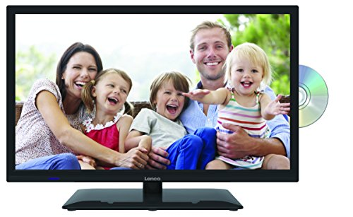 Lenco DVBT2 Fernseher DVL-2262BK 22 Zoll (55,88 cm) Full HD, LED Fernseher mit DVD-Player und 12 Volt Kfz-Adapter - Flachbild-tv 22in