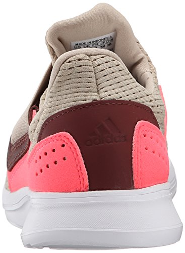 Adidas Performance Lite Slip-on Running Shoe, noir / noir / blanc, 5 M Us Brown/Brown/Pink