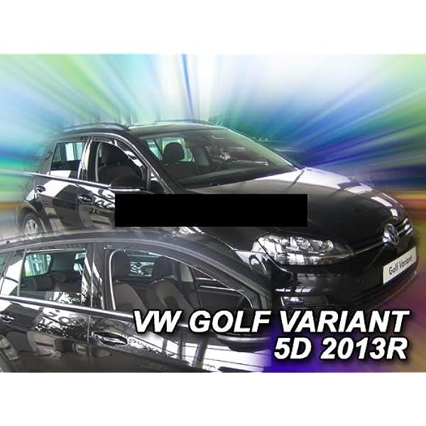 Heko Z997952 Windabweiser Regenabweiser Für Golf 7 2013 Variant Kombi 5türer Für Vorne Und Hinten Auto