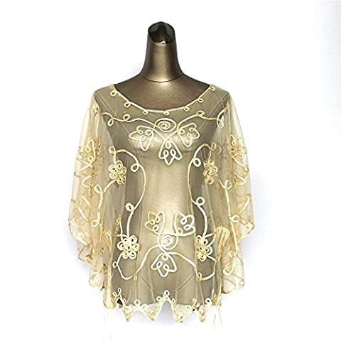 TOYUN Blouse Lace Shirt Sweater Mesh Embroidered Seaside Holiday ,