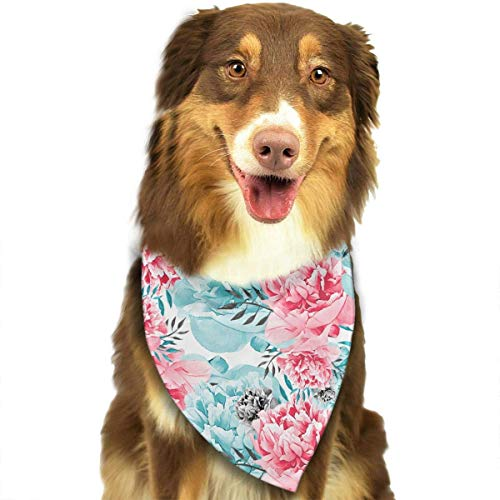 Osmykqe Dog Bandanas Rose Flower Adjustable Dog Collar Cat Scarf Puppy Bandans Pet Accessories