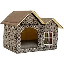 Ritapreaty Pet Nest - Caseta Antideslizante de Doble Parte Superior para Mascotas, caseta para Perro