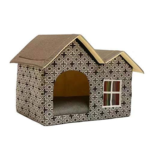 Prom-near Hundebetten Hundehütte Katzenhöhle Katzenhaus Pet Nest - Indoor Portable Warm Weichen Nest Für Kleine Und Mittelgroße Hunde Und Alle Katzen (Indoor-hundehütte Für Mittelgroße Hunde)