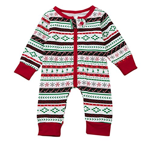 Hirolan Neugeboren Baby Strampler Junge Lange Hülse Spielanzug Overall Weihnachten Drucken Baumwolle Outfits Kleider Zum 3-24 Monate (80cm, (Frauen Weihnachten Outfits)