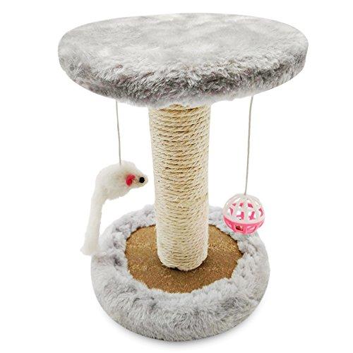 Perfedii Einzel-Plattform-Katzen-Tätigkeits-Baum u. Kratzen-Pfosten-Turm mit hängendem Ball-Spielzeug (Groß Katze-bäume Und Türme)