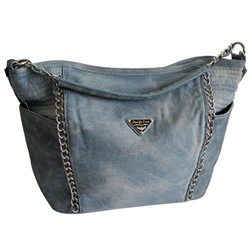 d256a0df2d578 ... Vintage Handtasche Lässige Canvas Jeans Schultertasche von Jennifer  Jones - Damentasche