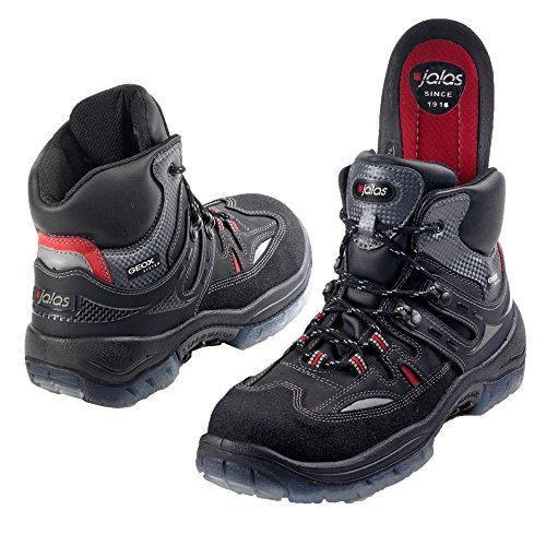 Jalas, Zapatos De Seguridad Para Hombres, Negro / Gris / Rojo