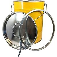 20litros hobbock/Tapa Barril acero barril Barril Cubo de basura Cubo nuevo amarillo
