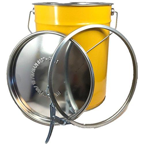 20 Liter Hobbock/Deckelfass Stahlfass Fass Mülleimer Eimer NEU Gelb