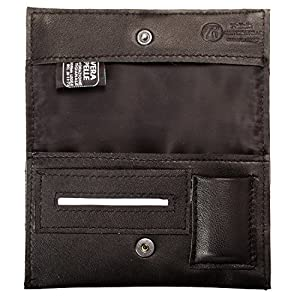 Pellein - Portatabacco in vera pelle Nero Hero - Astuccio porta tabacco, porta filtri, porta cartine e porta accendino… 1 spesavip