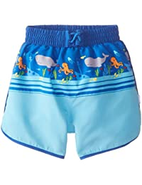 i play Mix n Match Ultimate Swim Nappy Panel Board Shorts for Boys (2-3 Years, Toddler, Royal Shipwreck)