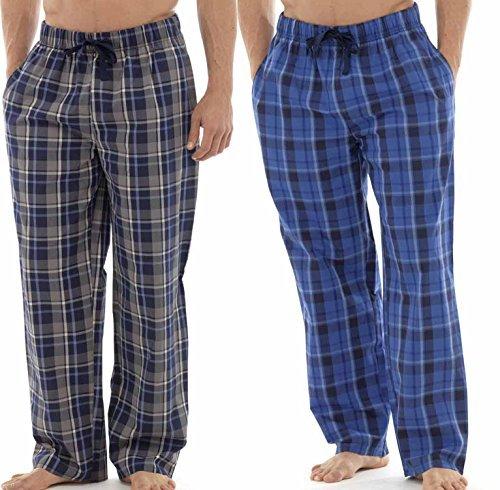 Tom Franks de cuadros pantalones cortos de cuidado fácil Lounge Twin Pack