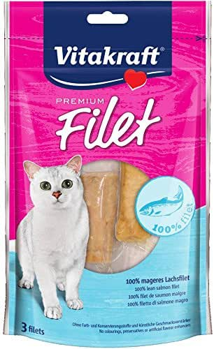 Vitakraft : Friandises Pour Chat : Saumon 100% Filet, 70g