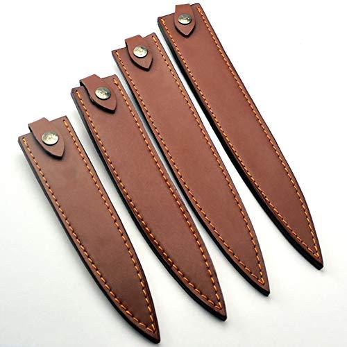 Esta es una funda de cuero genuino de gran calidad con 21 x 3,3 cm, 24 x 3,3 cm; nuestra funda para cuchillo se adapta a la mayoría de los tipos de cuchillos sushi sashimi, japaneses o cuchillos occidentales, la funda de piel auténtica es una gran pr...