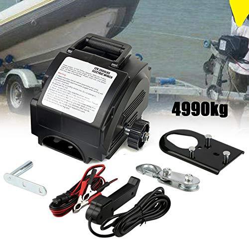 DiLiBee 12V treuil électrique 4990 kg avec Radio treuil Bateau treuil treuil treuil treuil treuil 10,2 m Traction de câble en Acier