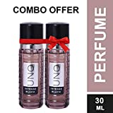 Uno Intense Black perfume for unisex combo of 2 (30ml Each)