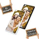 Handyhülle für Huawei-Serie mit eigenem Foto und Text * Cover Case Schutzhülle selbst gestalten, Farbe:Weiß, Modell:Huawei P8 Lite