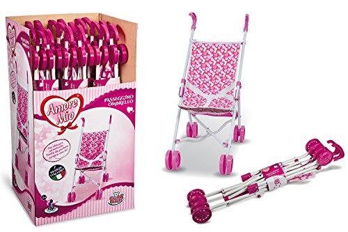 Grandi Giochi Passeggino Ombrello, Colore Bianco/Rosa, 71250