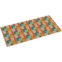 Printodecor 0049–657968319004Vinyl Carpet Printed with Design Organic, Multi-Colour, 97x 48cm
