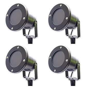 4 x spots clairage ext rieur piquer lampe de jardin en borne pour spot gu10 ip65 noir. Black Bedroom Furniture Sets. Home Design Ideas