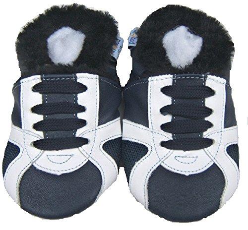- Doublure lederhausschuhe kinderhausschuhe-chaussures-blaue-jinwood-skateboard avec fourrure-baby-chaussures en cuir taille 18/19 et 28/29 Noir - Noir