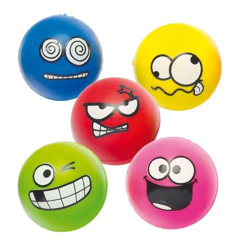 Baker Ross Balles Rebondissantes à Visage Amusant (Lot de 6) - Idéales pour Les Pochettes-Surprises