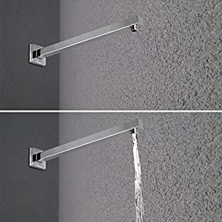 Artbath 400mm Shower Arm Extension For Rain Shower Wall Mounted Universal Showering Component Solid Brass Polished Chrome 400mm